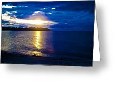Sunset At Parksville Beach Greeting Card