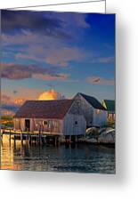Sunset At Peggy's Cove 06 Greeting Card