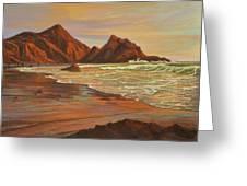 Sunset At Pfeiffer Beach Greeting Card