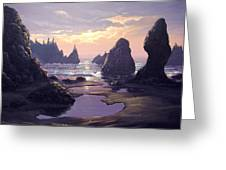 Sunset At Point Of The Arches Greeting Card