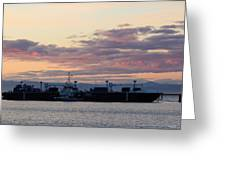 Sunset At Port Angeles Greeting Card