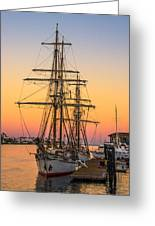 Sunset At San Pedro Greeting Card