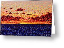 Sunset At Sea Greeting Card