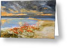 Sunset At Seaside Greeting Card