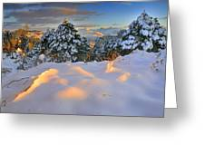 Sunset At Sierra Nevada Greeting Card