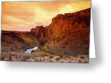 Sunset At Smith Rock Greeting Card