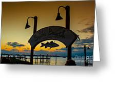 Sunset At Snooks Bayside Greeting Card