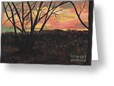 Sunset At Spring City Tenn Greeting Card