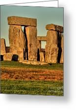 Sunset At Stonehenge 2 Greeting Card by Deborah Smolinske