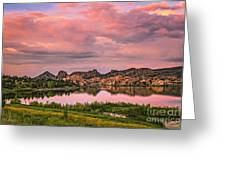 Sunset At The Dells Greeting Card by Medicine Tree Studios