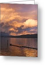 Sunset At The Dock Greeting Card