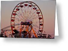 Sunset At The Fair Greeting Card