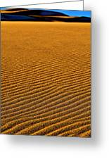 Sunset At The Great Sand Dunes National Greeting Card
