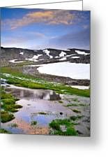 Sunset At The Lake At 3000 M. Hight Greeting Card