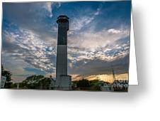 Sunset At The Lighthouse Greeting Card