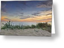 Sunset At The Mediterranean Greeting Card
