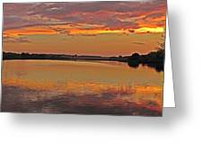 Sunset At The Rostavytsia_1 Greeting Card