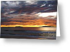 Sunset At The Shores Greeting Card