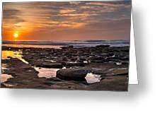 Sunset At The Tidepools II Greeting Card