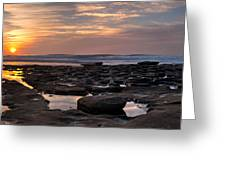Sunset At The Tidepools IIi Greeting Card