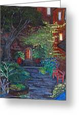 Sunset At The Villa Greeting Card by Dixie Adams