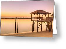 Sunset At Tybee Greeting Card