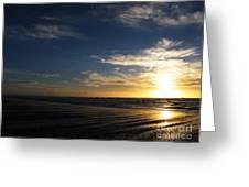 Sunset At Westport Beach Greeting Card