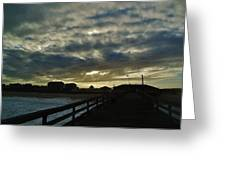 Sunset Avon Pier 1 10/15 Greeting Card