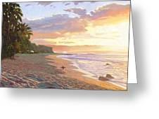 Sunset Beach - Oahu Greeting Card