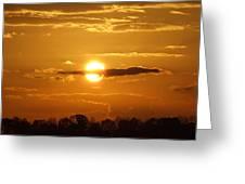Sunset Bear Greeting Card