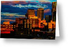 Sunset Behind Target Field Greeting Card