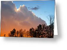 Sunset Between Storm Cells Greeting Card