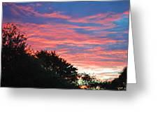 Sunset Bicolor Greeting Card