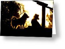 Sunset Buddies Greeting Card
