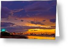 Sunset By Causeway Bridge Greeting Card