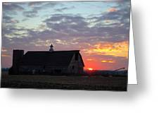 Sunset By The Barn 2 Greeting Card
