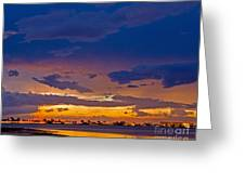 Sunset By The Bay Greeting Card
