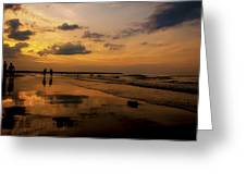 Sunset By The Beach Greeting Card