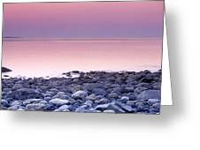 Sunset By The Ocean Greeting Card