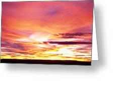 Sunset, Canyon De Chelly, Arizona, Usa Greeting Card