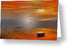Sunset Charm, 30 Landscape Wall Art Painting Pack  Sunset-sunrise, Evening, Sea, Water, Ocean Etc  Greeting Card