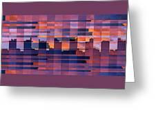 Sunset City Greeting Card