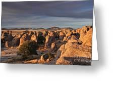 Sunset City Of Rocks Greeting Card