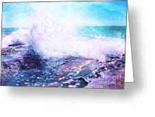 Sunset Cliff Wave Greeting Card