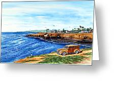 Sunset Cliffs Ocean Beach Greeting Card by John YATO