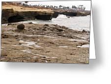 Sunset Cliffs Shoreline 2 Greeting Card