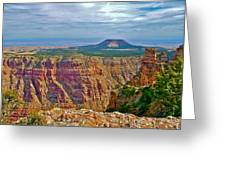 Sunset Crater View From Desert View On East Side Of South Rim Grand Canyon National Park-arizona  Greeting Card