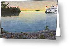 Sunset Cruise Greeting Card