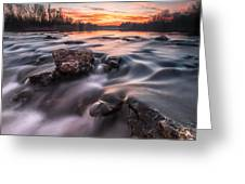 Sunset Greeting Card by Davorin Mance