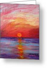 Sunset Delaware Bay Greeting Card
